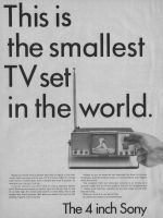 ... the smallest TV set in the world